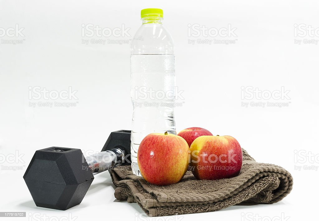 excercise and drinking water stock photo