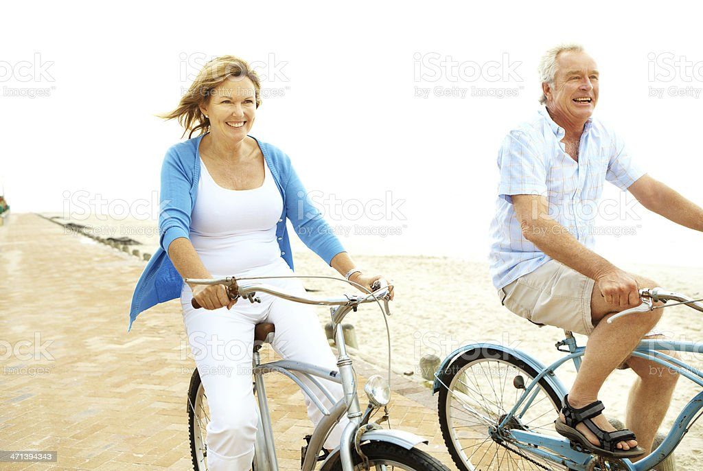 Excercise is more important as you get older royalty-free stock photo