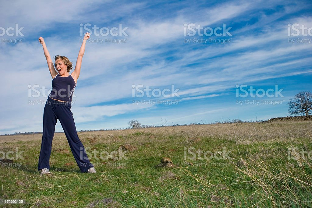 Excercise Outdoors royalty-free stock photo