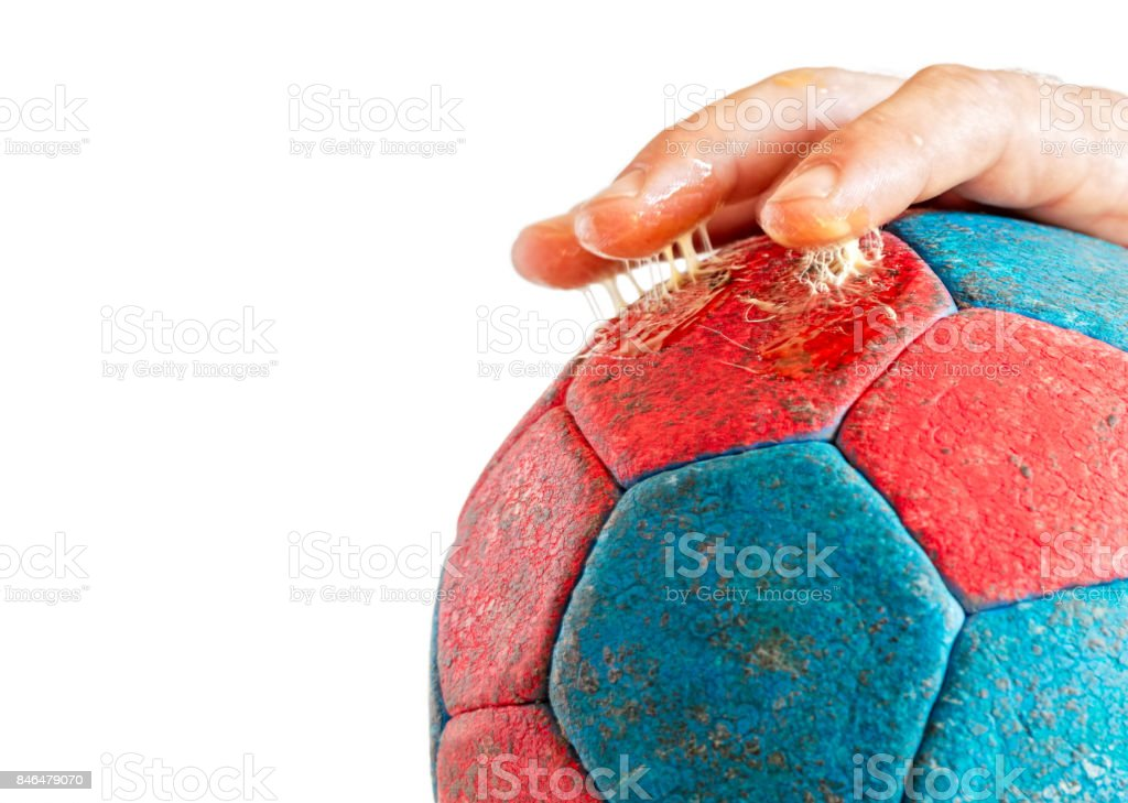 Excess Handball Rasin on Fingers stock photo