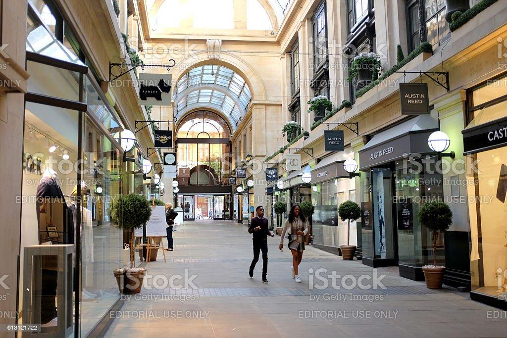 Exchange Arcade, Nottingham. stock photo