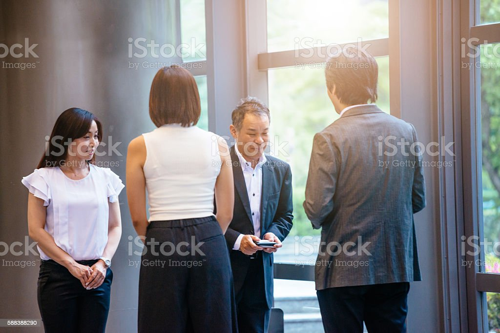 Exchange Business Cards And Contacts After Formal Meeting stock ...