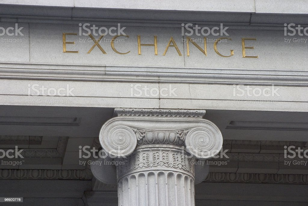 Exchange Column royalty-free stock photo