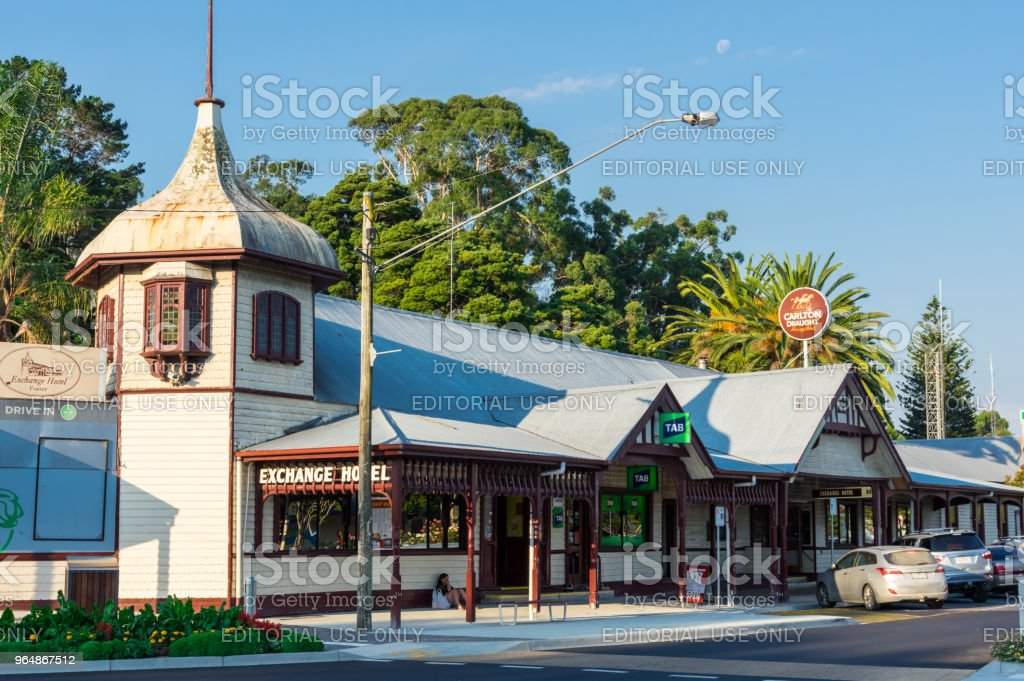 Exchange Hotel in the South Gippsland town of Foster in Australia. royalty-free stock photo