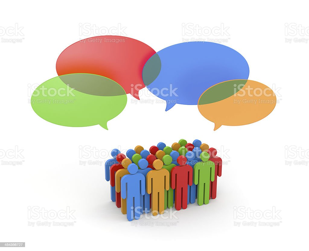 Exchange of opinions. Gossip royalty-free stock photo