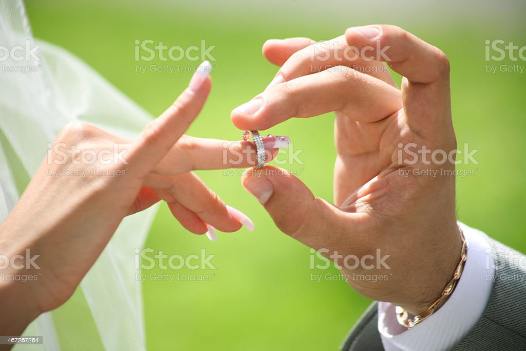 Austausch der Eheringe Lizenzfreies stock-foto