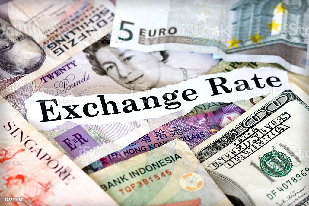 exchange rate royalty-free stock photo