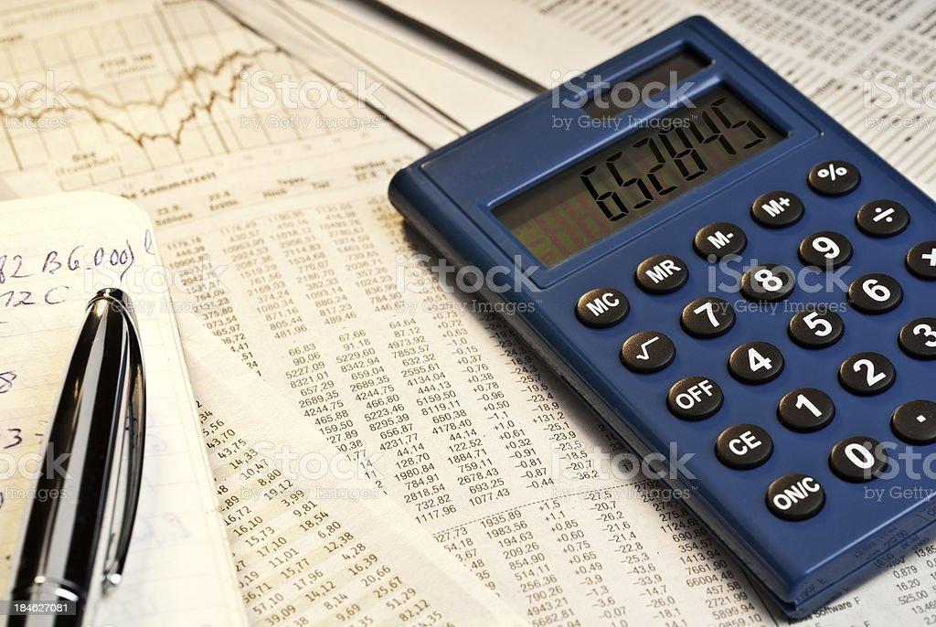 Exchange rate table stock photo
