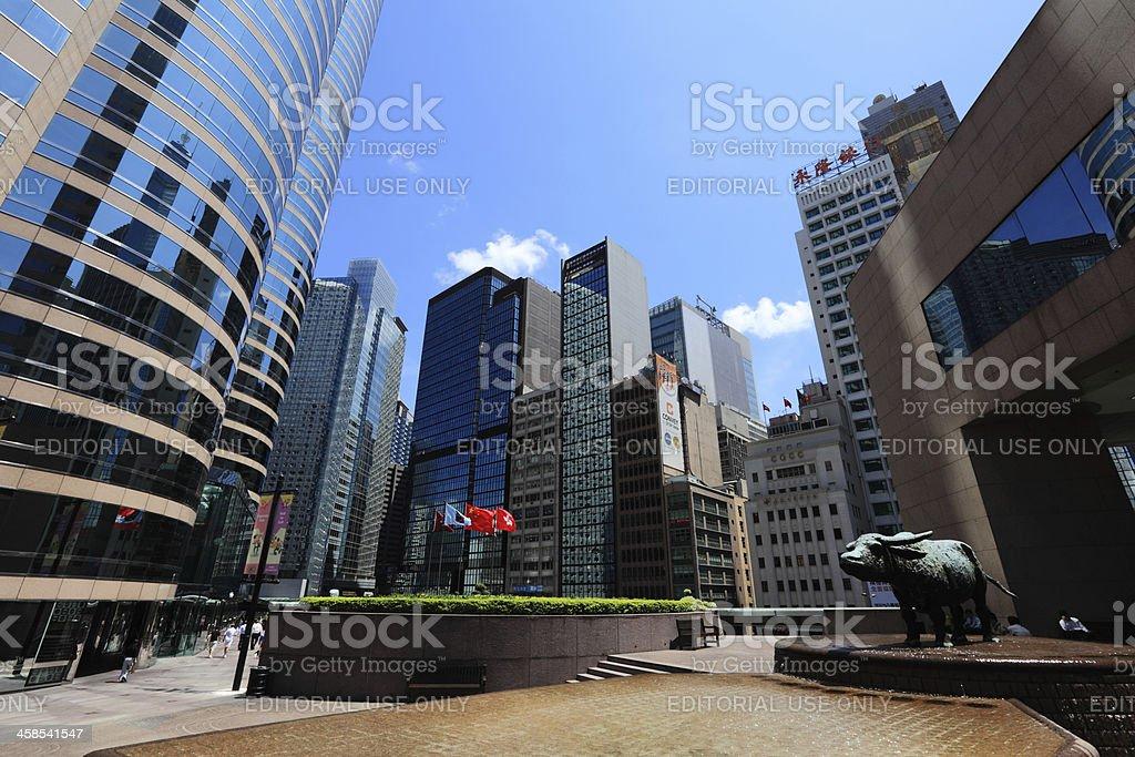 Exchange Square Hong Kong royalty-free stock photo