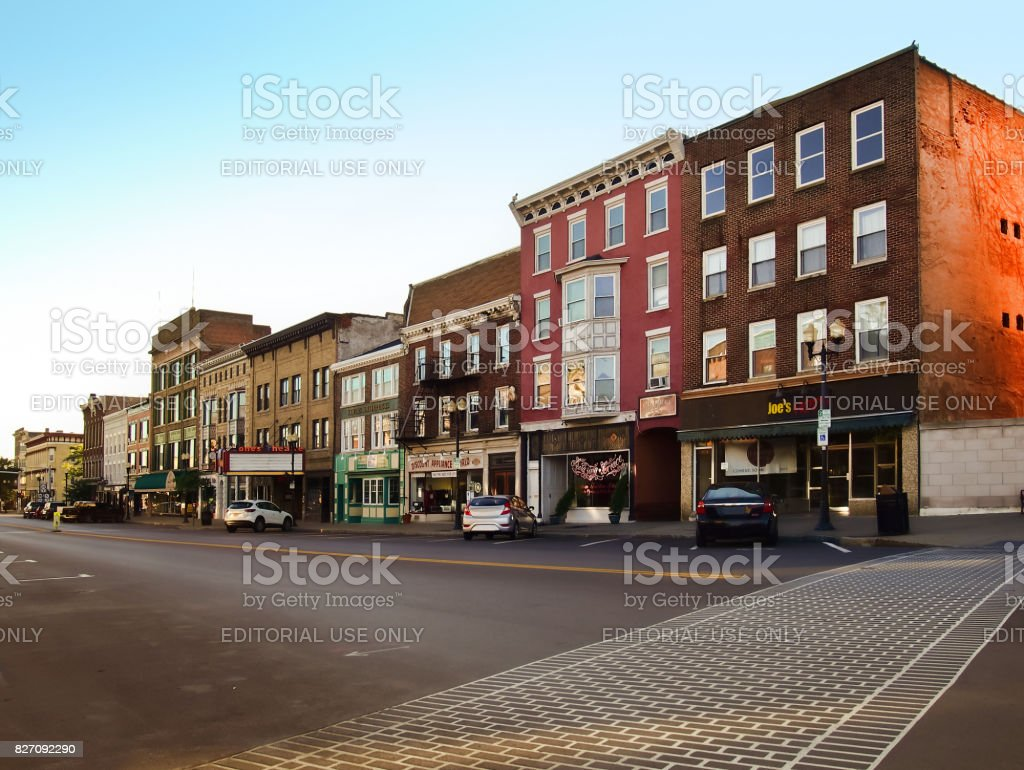 Exchange Street stock photo