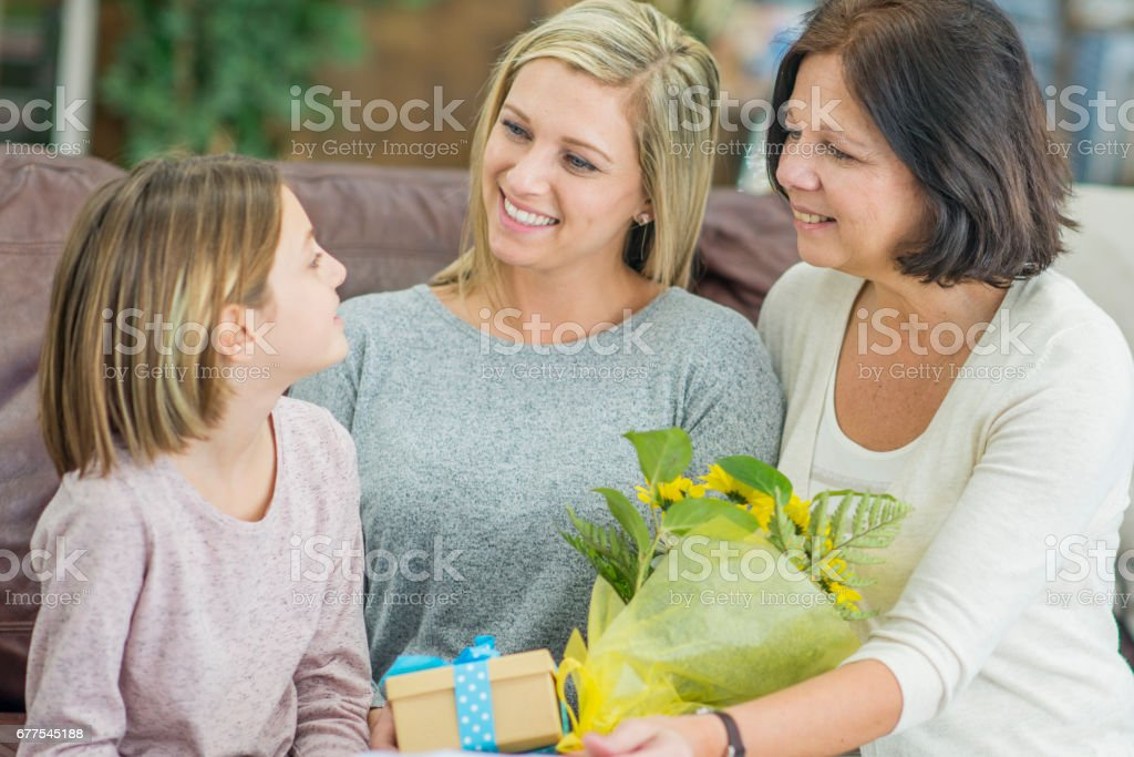 Exchanging Gifts royalty-free stock photo