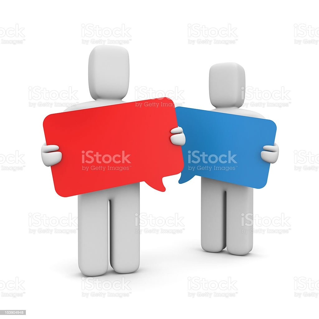 Exchanging of views royalty-free stock photo