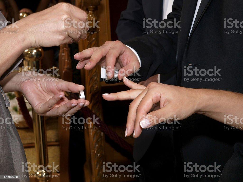 Austausch Hochzeit Ringe Lizenzfreies stock-foto