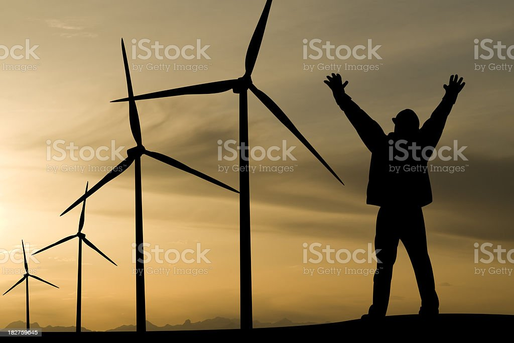 Excited about Alternative Energy royalty-free stock photo