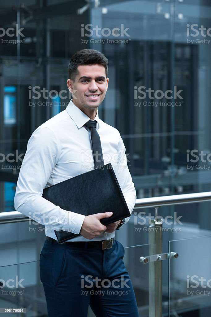 Excited about the new project stock photo