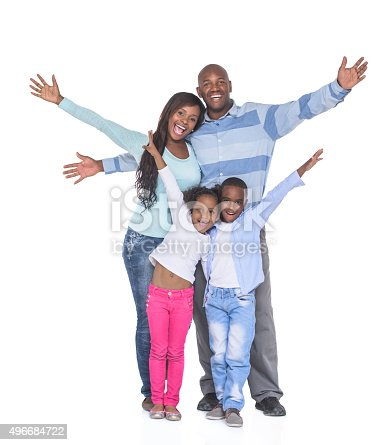 1126155137 istock photo Excited African American family 496684722