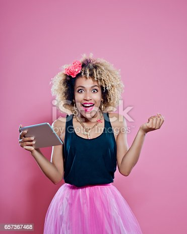 538883870istockphoto Excited afro woman holding a digital tablet 657367468