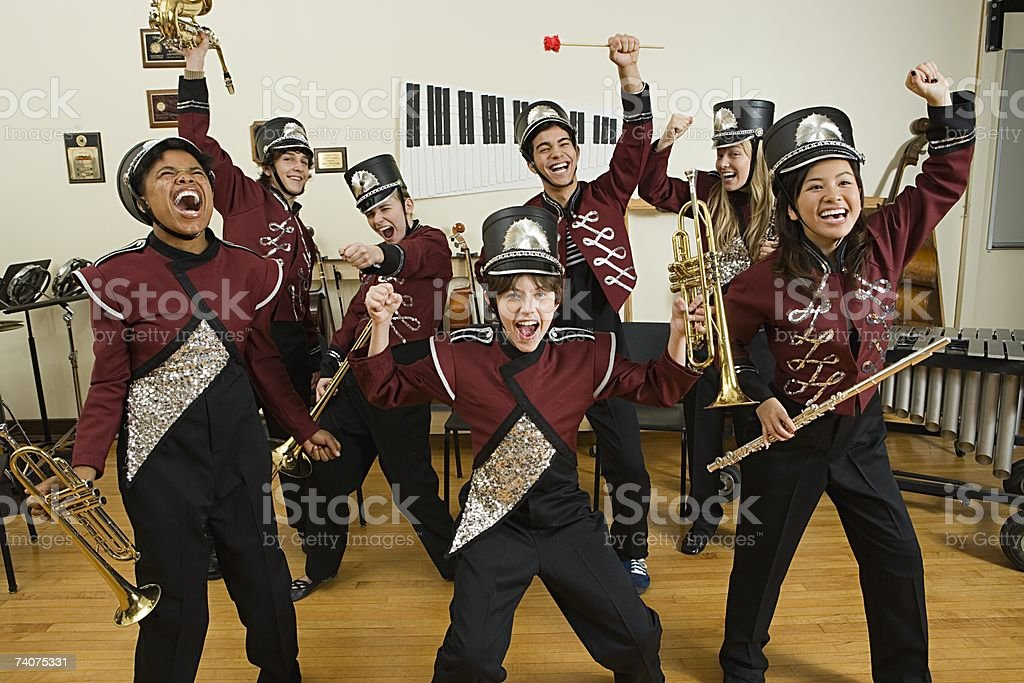 Excited band stock photo