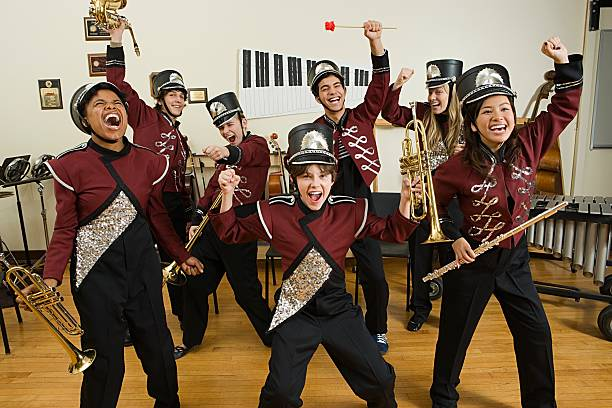 excited band - performance group stock photos and pictures