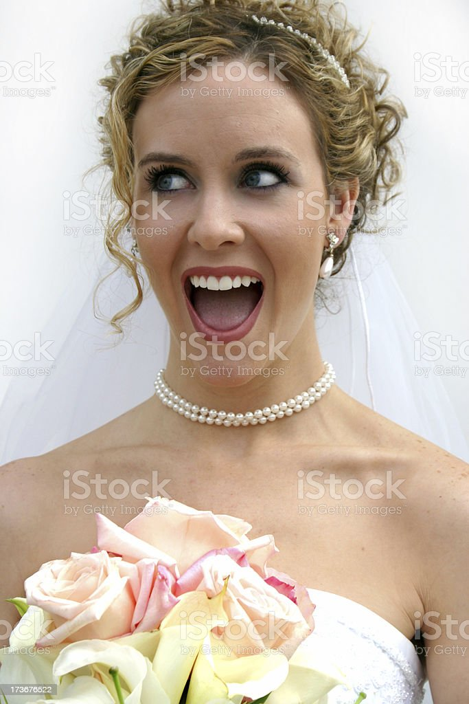Excited Bride royalty-free stock photo