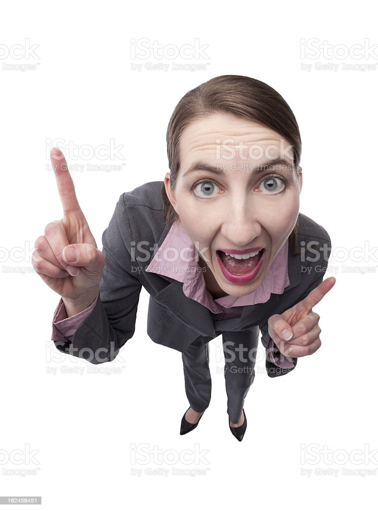 Excited Business Woman royalty-free stock photo