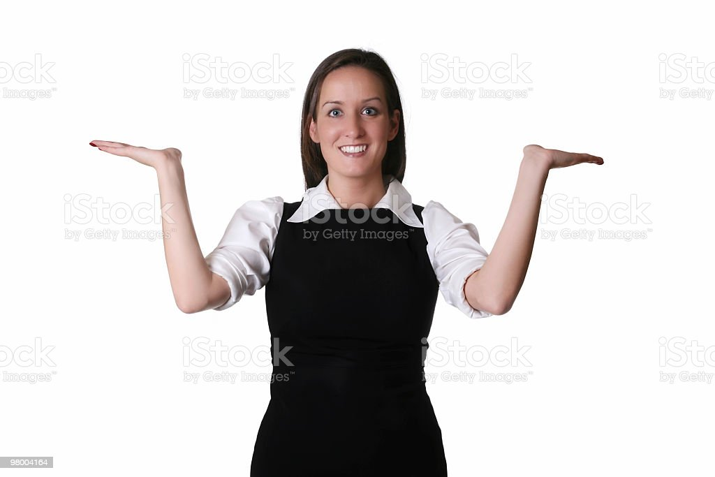 Excited Businesswoman royalty-free stock photo