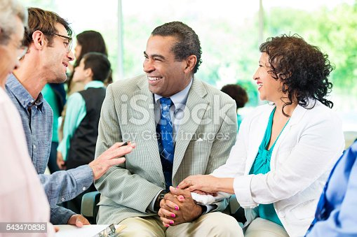 669854210 istock photo Excited couple gets happy news 543470836