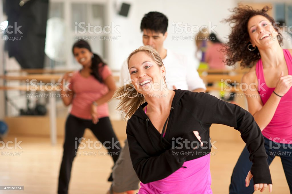 Excited Dance Class stock photo