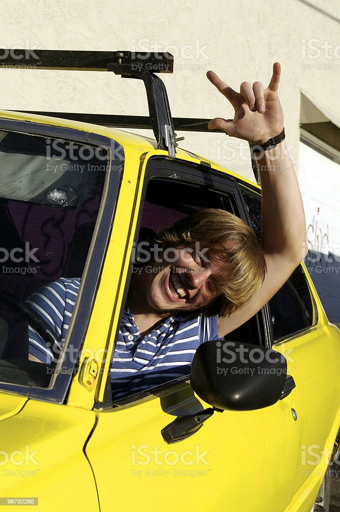 Excited Driver royalty free stockfoto