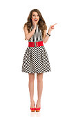 istock Excited Elegant Woman Pointing 579247738