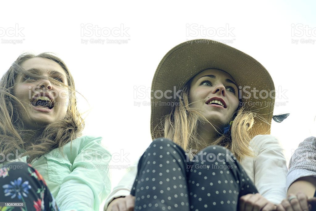 Excited faces royalty-free stock photo