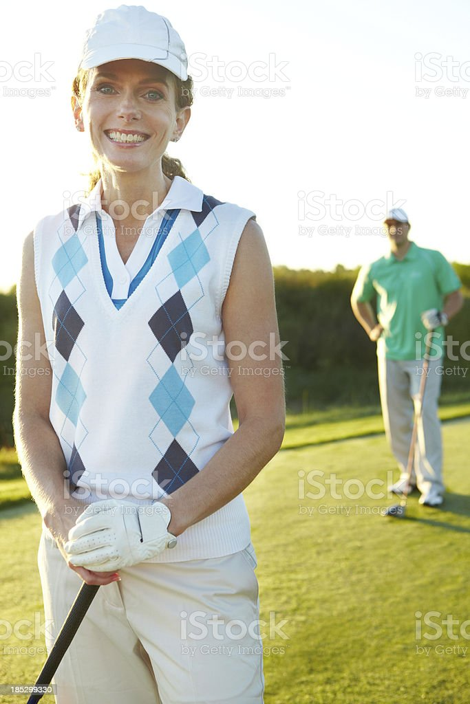 Excited for a day out on the course royalty-free stock photo