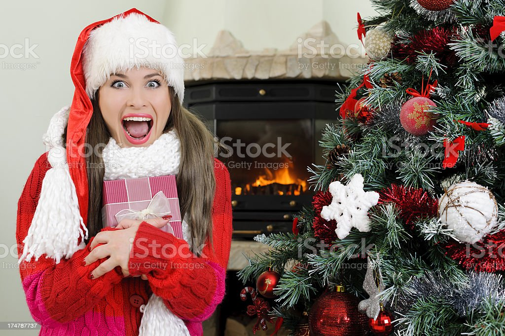 excited for gifts royalty-free stock photo