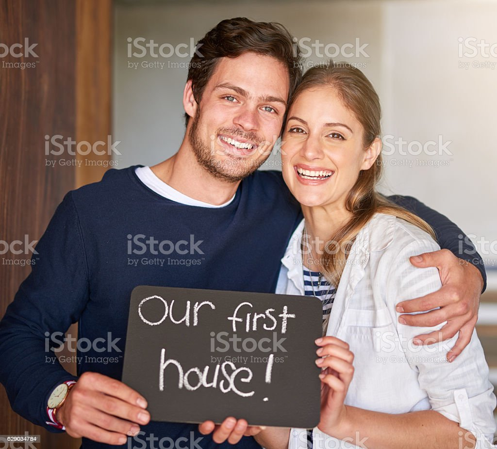 Excited for their new beginning stock photo