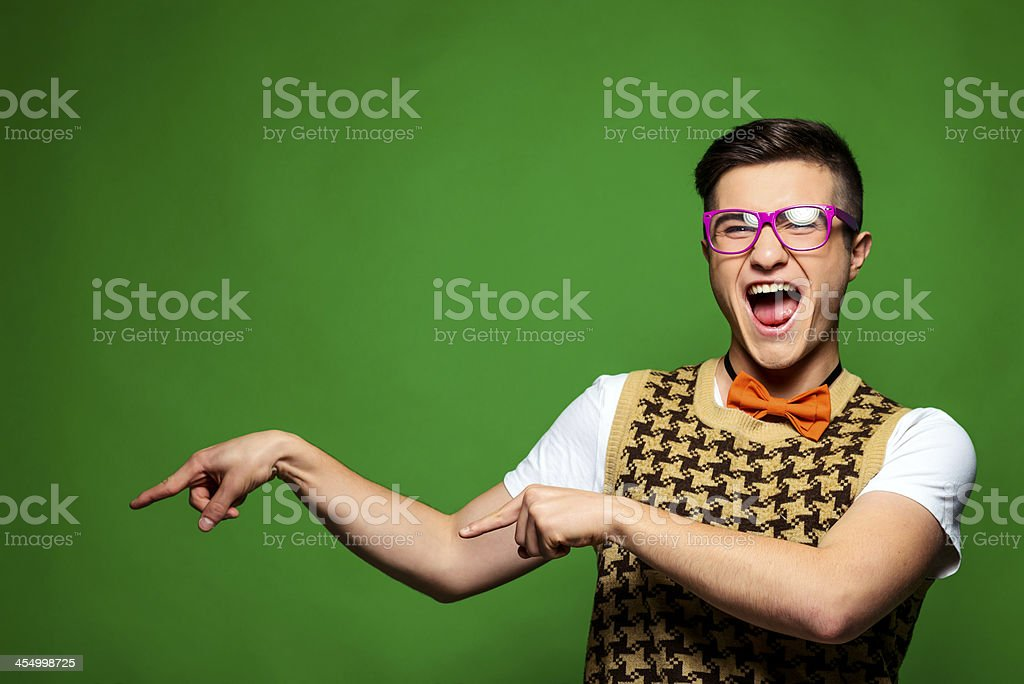 excited geek royalty-free stock photo