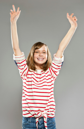 Excited Girl Stock Photo - Download Image Now