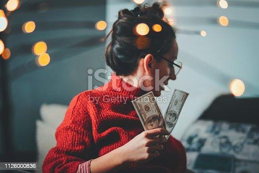 Businesswoman, Hand, Human Hand, Smiling, Winning, Dollars, Hipster, Bokeh