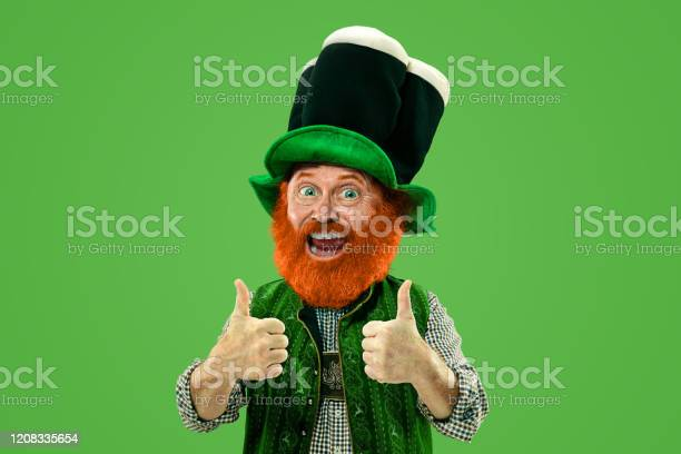 Excited leprechaun in green suit with red beard on white background picture id1208335654?b=1&k=6&m=1208335654&s=612x612&h=mbfj0k9ik9n2bljfk ldqa7uhnqzgmtkmlxy3a5t6fc=
