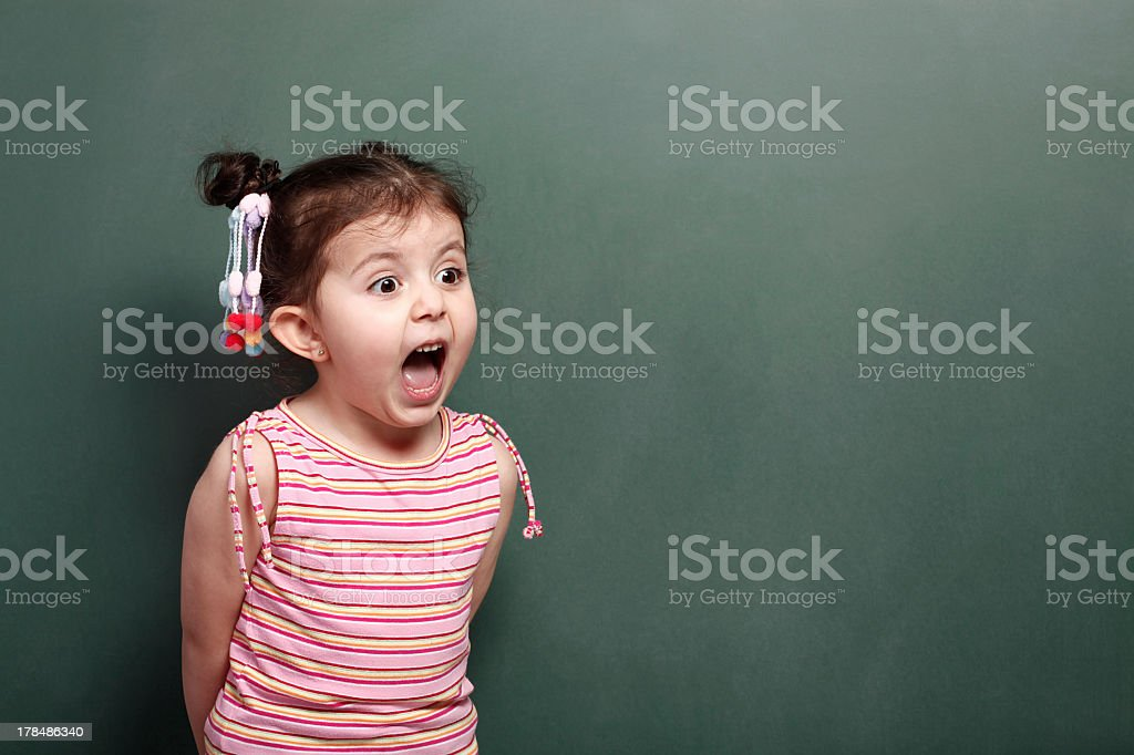 Excited Little Girl stock photo