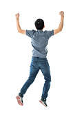 istock Excited man on white background 1148551431