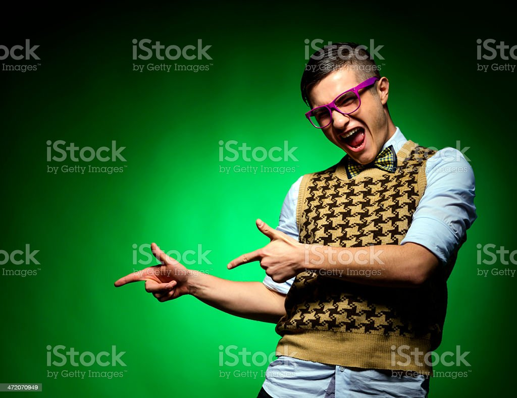 excited nerd royalty-free stock photo