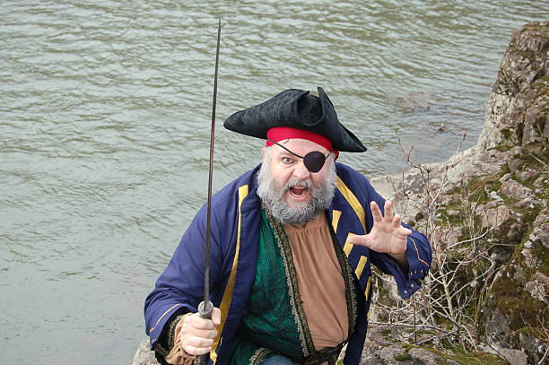 excited pirate - swashbuckler stock photos and pictures
