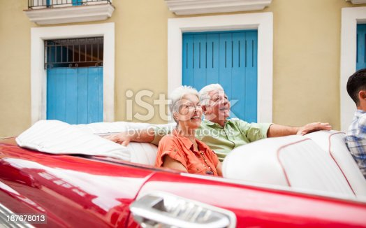 108329737 istock photo Excited senior couple visiting Cuba 187678013