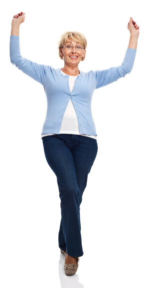Excited Senior Woman Stock Photo - Download Image Now