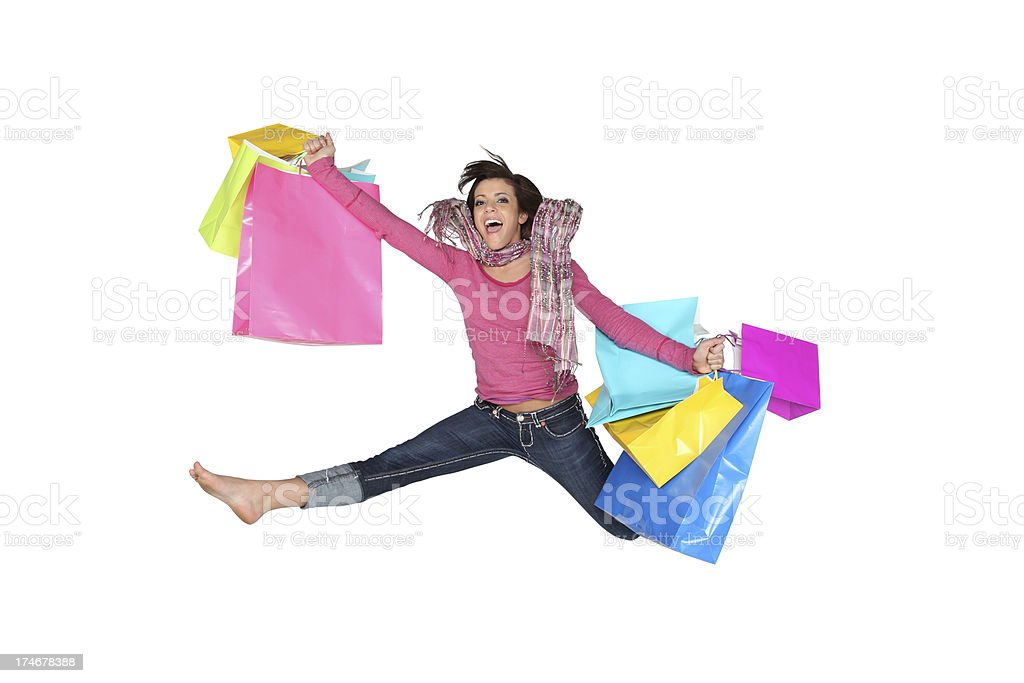 Excited Shopper royalty-free stock photo