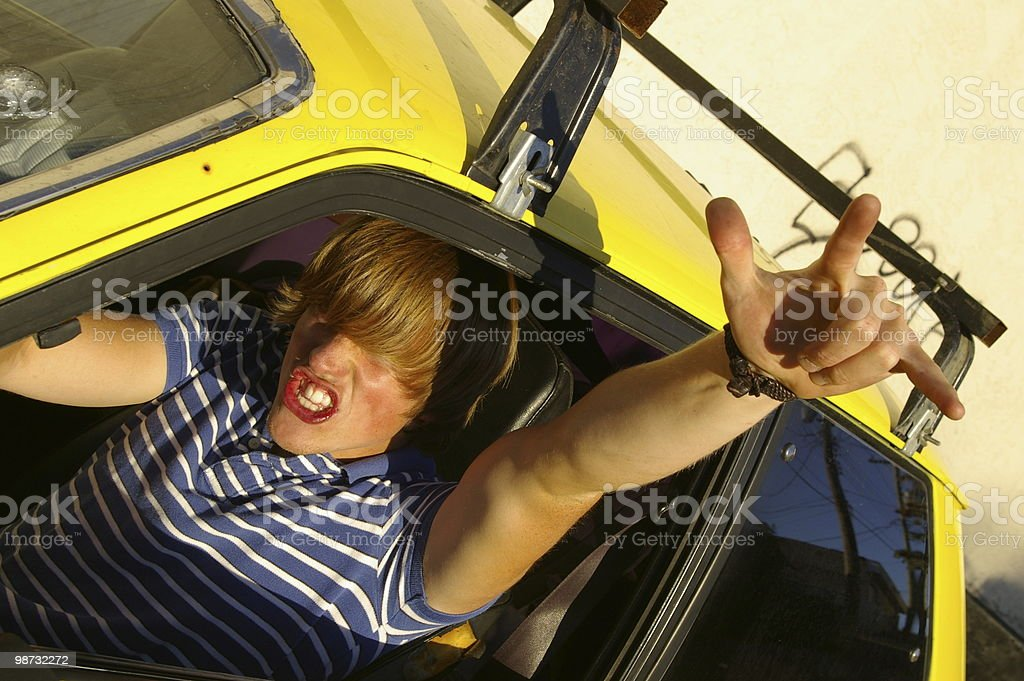 Excited Teenager royalty-free stock photo