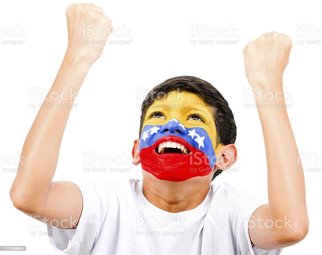 Excited Venezuelan boy royalty-free stock photo