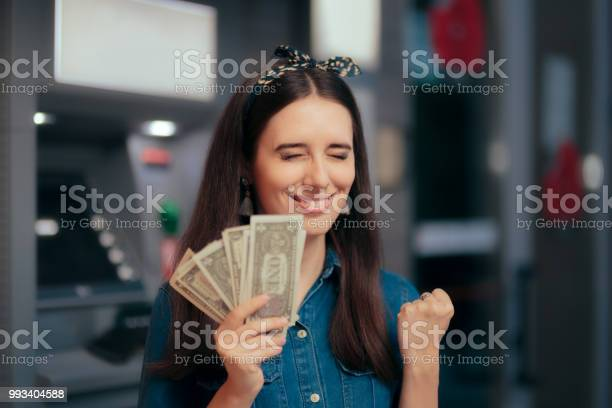 Excited woman receiving salary at atm teller machine picture id993404588?b=1&k=6&m=993404588&s=612x612&h=hhpaz4xbyof3nreu1ziqd8wung smv8zozgu2aiz7mk=