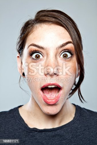 istock Excited young adult portrait. 165831171