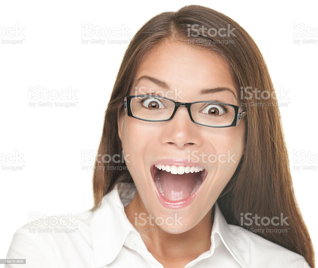 Excited young woman royalty-free stock photo